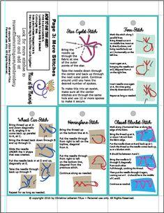 hand embroidery stitch guide pdf