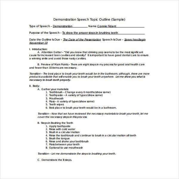 how to write a speech pdf