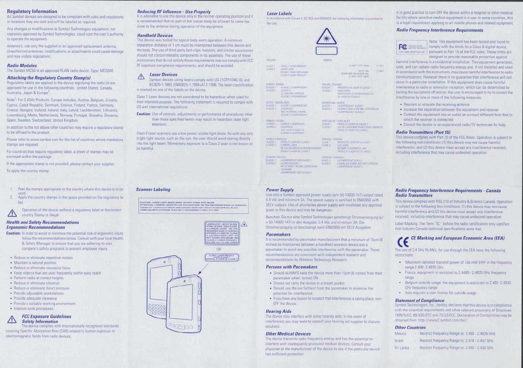symbol pocket pc mc5040 manual