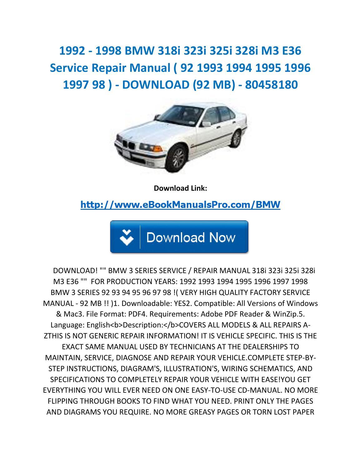 97 bmw 328i repair manual