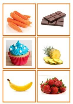 healthy and unhealthy food flashcards pdf