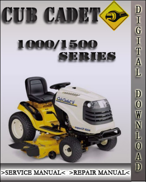 cub cadet lt1018 owners manual