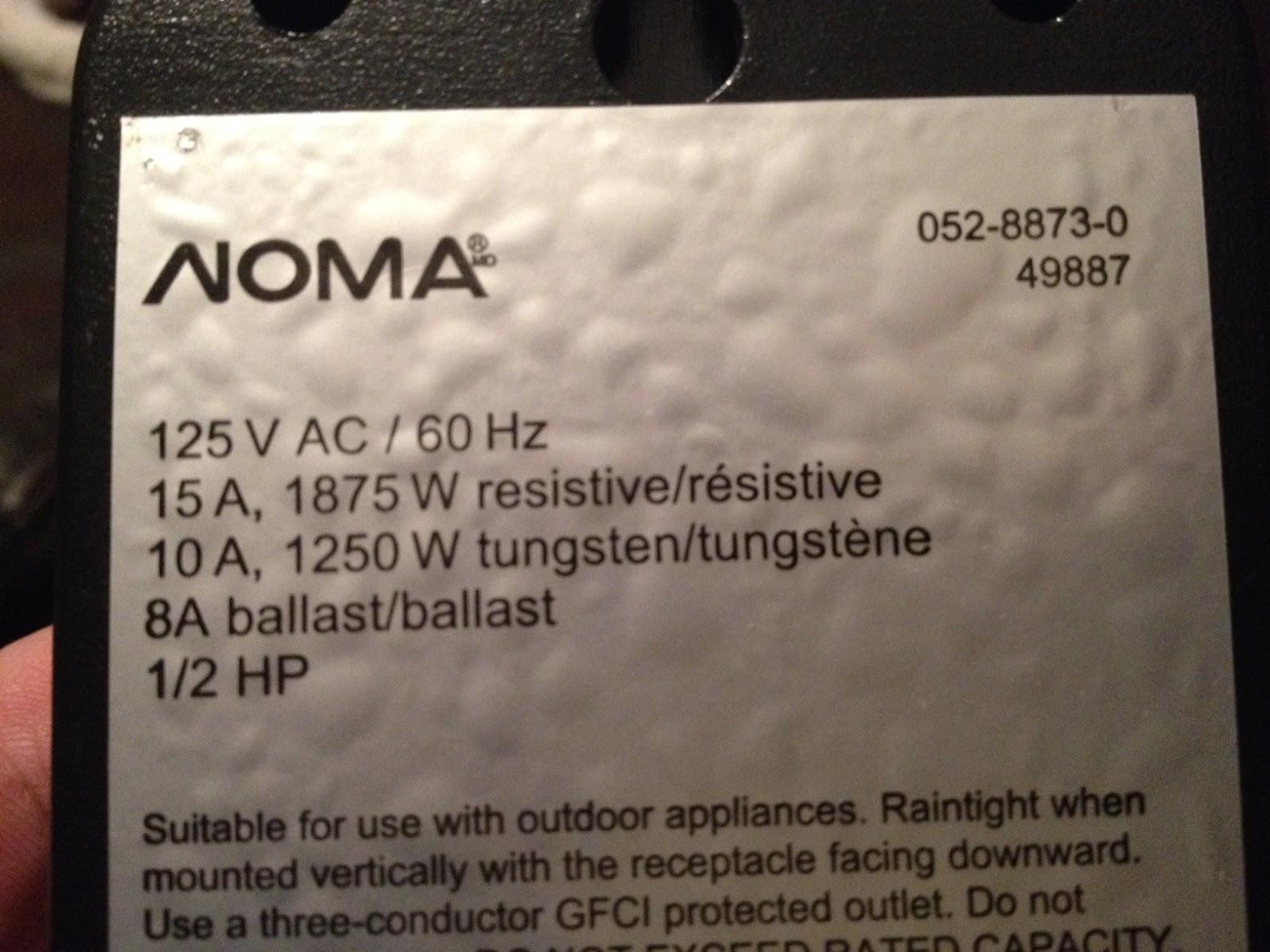 noma 052 8873 0 49887 manual