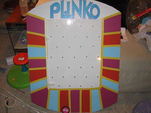 plinko board diy instructions